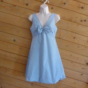 BCBG Max Azria Blue Polka Dot Bubble Hem Dress 2